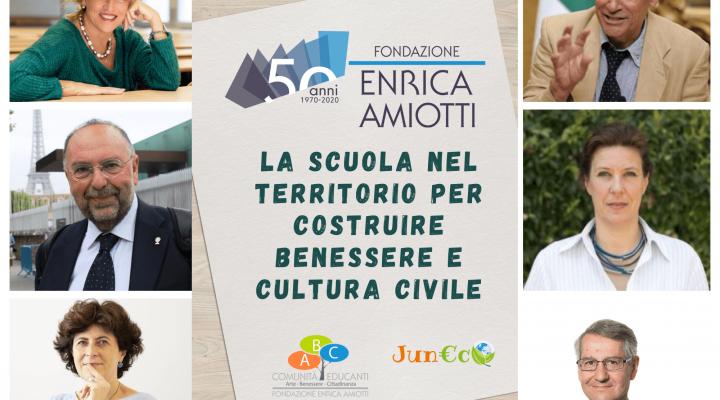 50 ANNI DI FONDAZIONE AMIOTTI-CONVEGNO ONLINE-LA SFIDA DELLE COMUNITA' EDUCANTI AL TEMPO DEL COVID